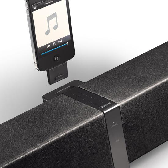 ZiiSoundin mukana tulee Bluetooth-palikka, jolla voi myös ladata iPodin.