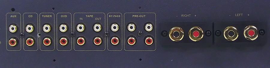 Bypass-liitäntä ohittaa volumesäätimen eli mahdollistaa av-vahvistimen kytkennän.