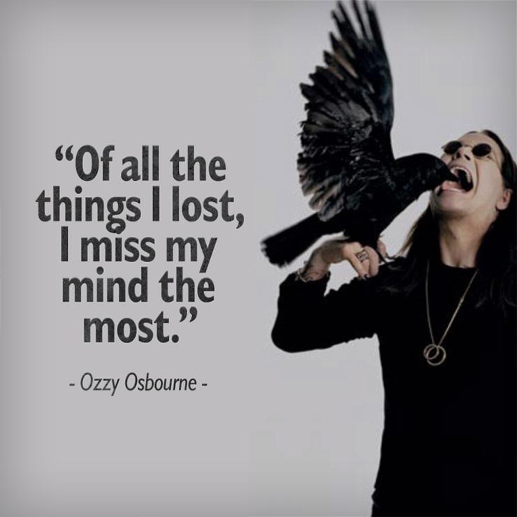 Ozzy Osbourne lainaus